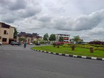 Kuching Malaysia September 2014. Entrance in the old city royalty free stock photography
