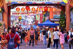 Kuching Mooncake festiwal W Kuching, Sarawak zdjęcie royalty free