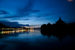 Kuching at night - Malaysia Royalty Free Stock Photography