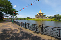 Kuching riverside park, Sarawak, Malaysia Royalty Free Stock Photography