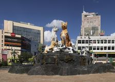 Kuching, Sawarak, Borneo - July 2018 A cat statue in the main to stock image