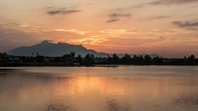 Kuching solnedgång Fotografering för Bildbyråer