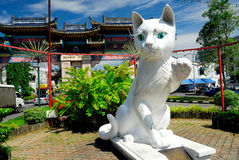 Kuching South City Council Cat Statue royalty free stock images