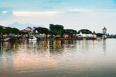 Kuching Waterfront. Evening view of Kuching Waterfront, Sarawak Royalty Free Stock Image