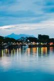Kuching Waterfront. Evening view of Kuching Waterfront, Sarawak Royalty Free Stock Photography