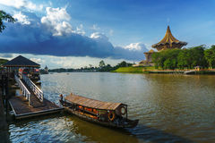 The Kuching Waterfront Royalty Free Stock Photography