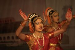 Kuchipudi - The classical Indian dance Royalty Free Stock Photos