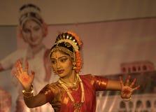 Kuchipudi - a dança indiana clássica Imagens de Stock Royalty Free