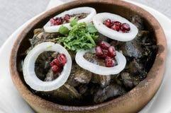 Kuchmachi georgiano del plato Foto de archivo libre de regalías