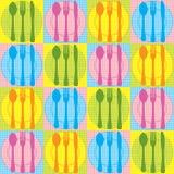 kuchni bezszwowy deseniowy royalty ilustracja