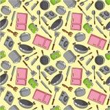 kuchni bezszwowy deseniowy Obraz Royalty Free