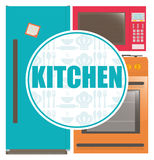 Kuchni dostaw projekt Obrazy Royalty Free