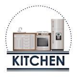 Kuchni dostaw projekt Zdjęcia Royalty Free