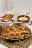 kuchni fideua owoce morza spaghetti spanish zdjęcie stock