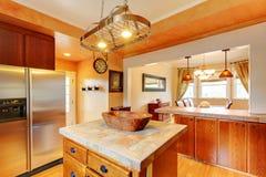 Kuchni i jadalni wnętrze z Fotografia Royalty Free