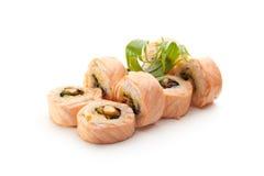 kuchni karmowy japoński maki suszi Zdjęcie Royalty Free