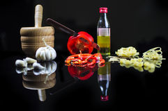 kuchni karmowych składników włoska pizza tradycyjna Fotografia Stock