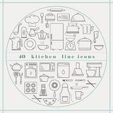Kuchni kreskowe ikony Obraz Royalty Free
