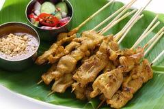 kuchni muczenia wieprzowiny satay tajlandzki Obrazy Stock