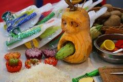 Kuchni narzędzia dla rzeźbić warzywa fotografia stock