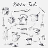 Kuchni narzędzia set royalty ilustracja