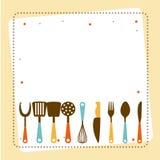 kuchni narzędzi projekt Zdjęcia Royalty Free