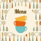 kuchni narzędzi projekt Obraz Royalty Free
