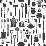 Kuchni narzędzi wzór Obraz Stock