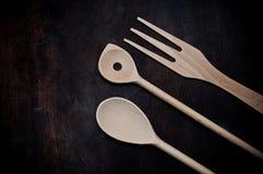Kuchni narzędzia na biurku Obrazy Stock