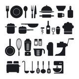 Kuchni narzędziowe ikony inkasowe royalty ilustracja