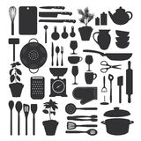 Kuchni narzędzia set Zdjęcia Stock