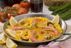 kuchni paella ryż spanish obrazy stock
