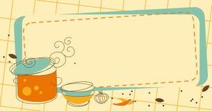 Kuchni rama royalty ilustracja