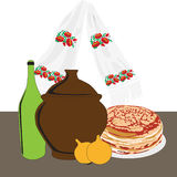 kuchni rosjanina stół Obraz Stock