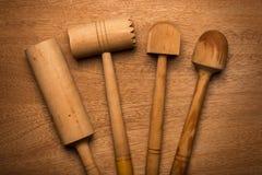 Kuchnia Drewniany naczynie zdjęcia royalty free