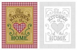 Kuchnia jest sercem domowy plakatowy projekt Zdjęcia Royalty Free