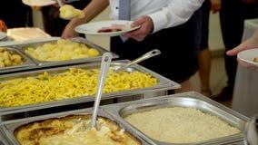 Kuchnia Kulinarnego bufeta Obiadowy catering ?omota Karmowego ?wi?towania przyj?cia poj?cie zbiory wideo