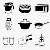 kuchnia kulinarni zestaw narzędzi Obrazy Royalty Free