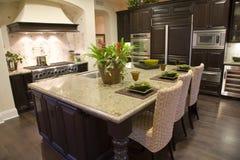 kuchnia luksusu w domu Zdjęcie Royalty Free