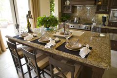 kuchnia luksusu w domu Fotografia Royalty Free