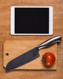 Kuchnia Nóż z pastylką zdjęcia royalty free