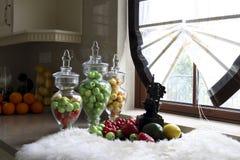 Kuchnia stawiająca owoc Zdjęcia Royalty Free