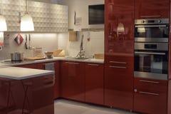 Kuchnia w meblarskim sklepie Ikea Zdjęcia Royalty Free