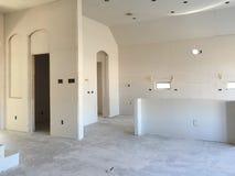 Kuchnia w nowym domu w budowie Zdjęcie Stock