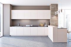 kuchnia wewnętrznego white Zdjęcie Royalty Free