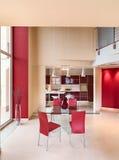 kuchnia żyje nowoczesny pokój Zdjęcia Royalty Free