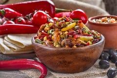 kuchnia zieloną meksykańskiego sosu ostre tacos tradycyjne Zdjęcia Royalty Free