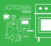Kuchnia znaki Zdjęcie Stock