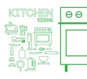 Kuchnia znaki Zdjęcia Royalty Free
