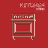 Kuchnia znaki Zdjęcia Stock